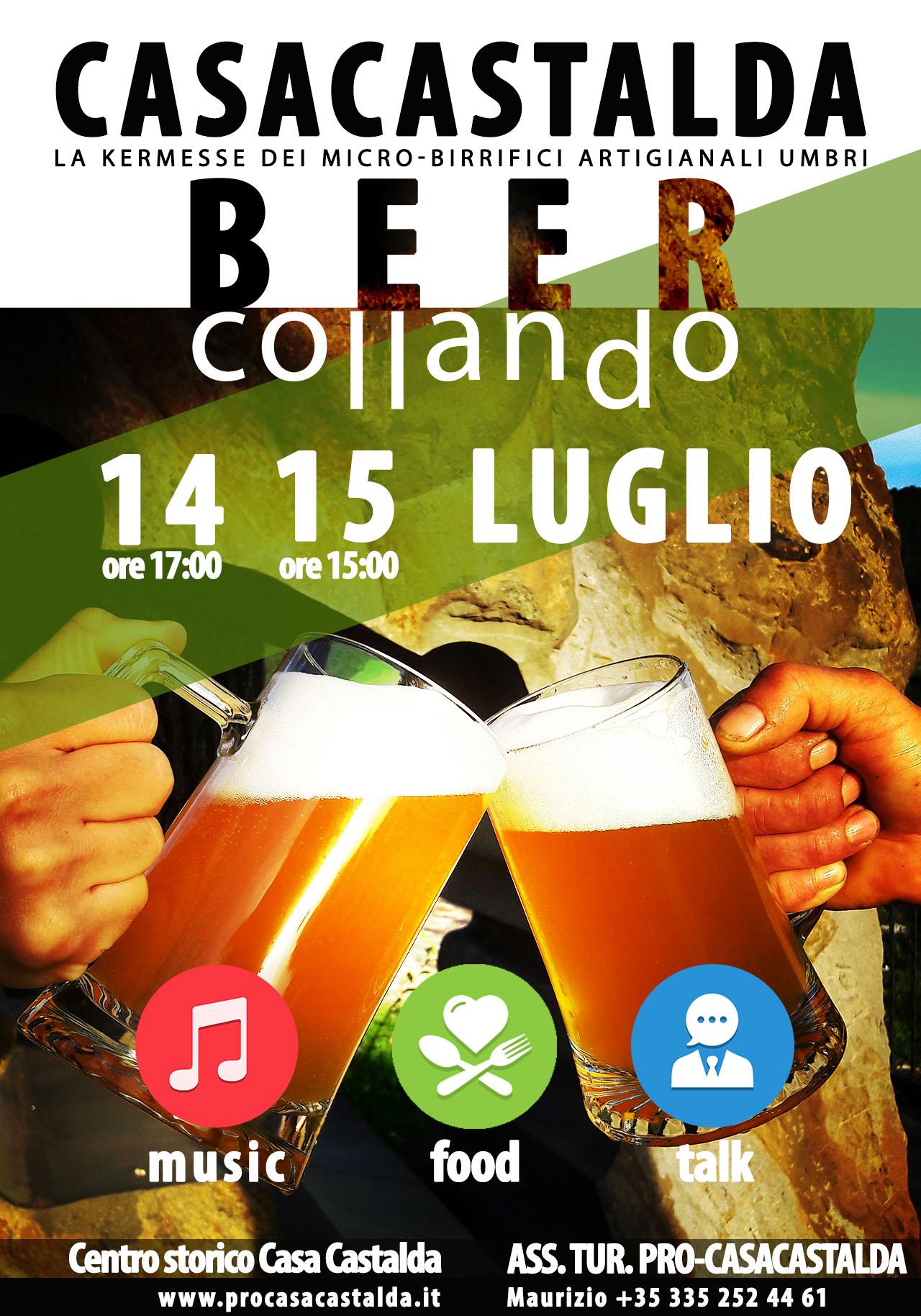 BEER-COLLANDO prima edizione evento sulla birra artigianale, Perugia, Umbria 2018
