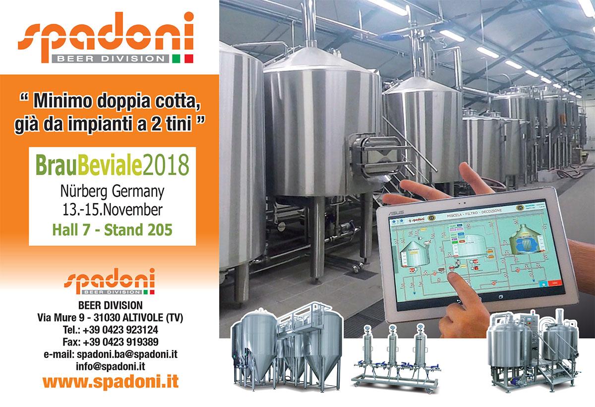 Spadoni, Impianti inox per la produzione di birra