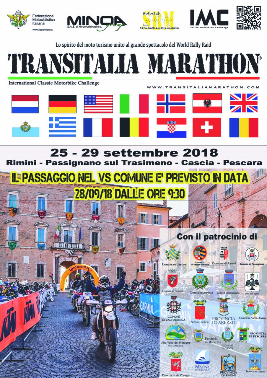 Locandina Transitalia Marathon 2018