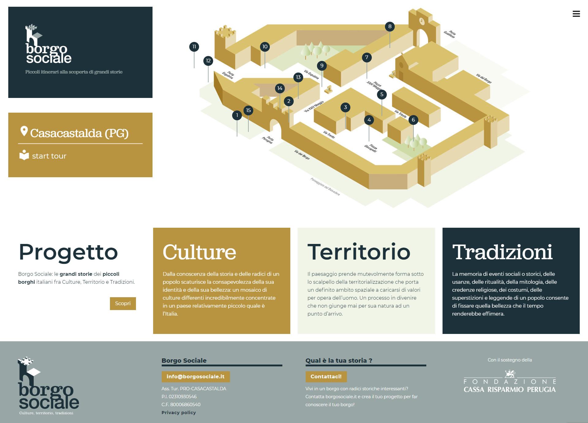 Borgo Sociale sito web ufficiale
